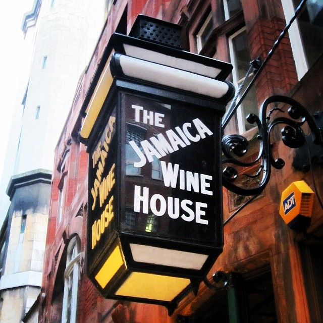 Jamaica Wine House, St Michael's Alley Cornhill -site of