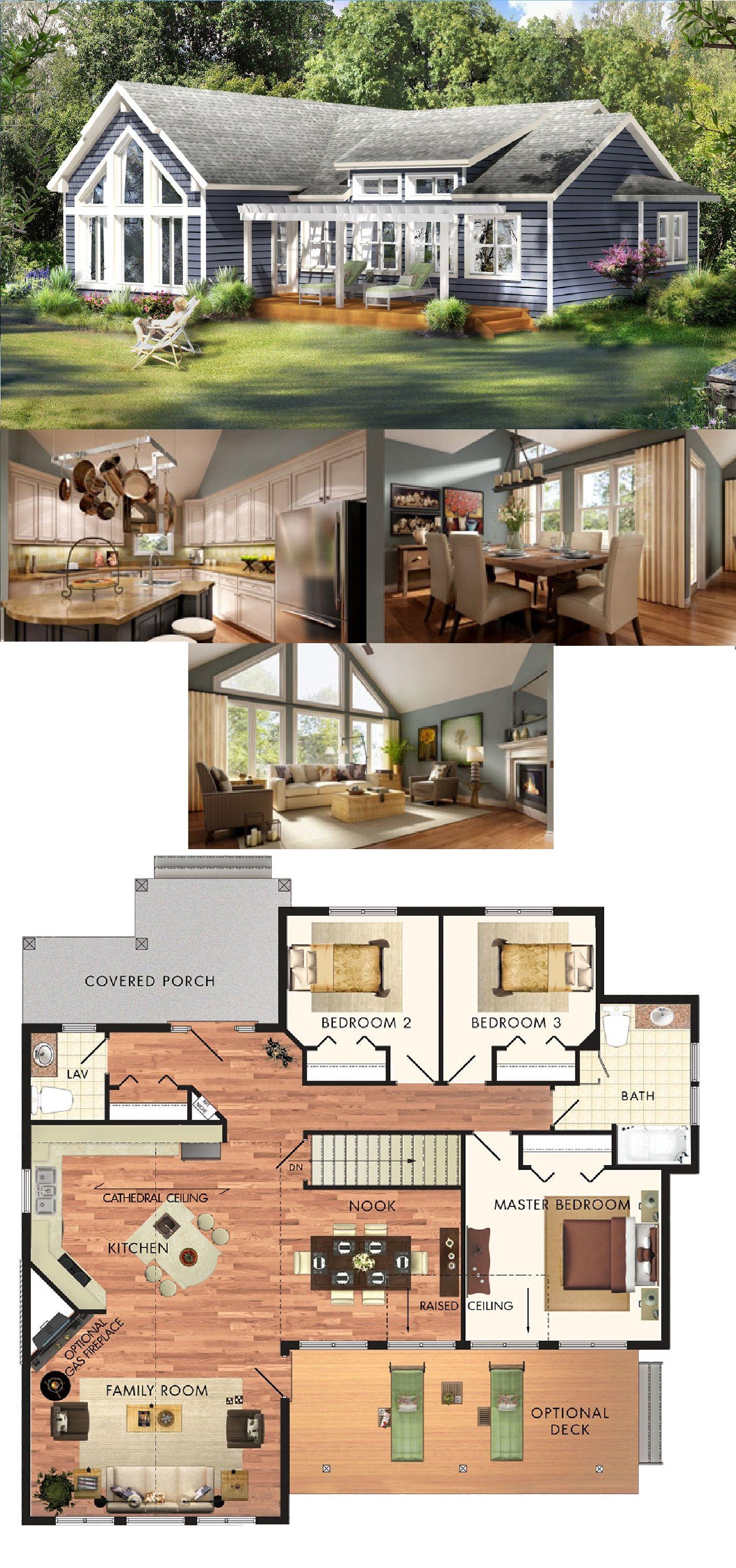 Beaver homes cottages aspen ii 1393 sq ft home for Beaver home designs