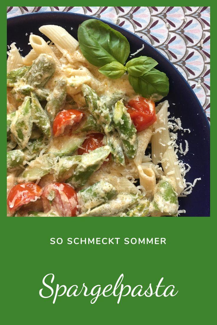 Schnell und lecker: Pasta mit grünem Spargel   Ganz normale Mama
