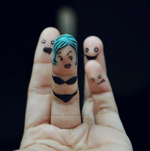 прикольные рисунки на пальцах фото перестройке бак