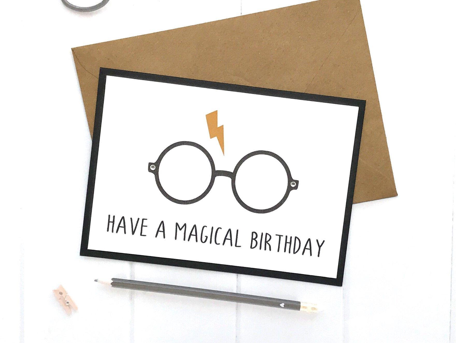 Harry potter birthday card harry potter birthday gifts