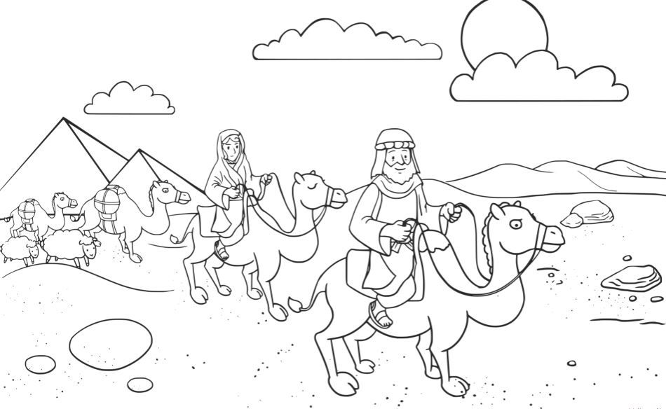Abram And Lot Coloring Page Free