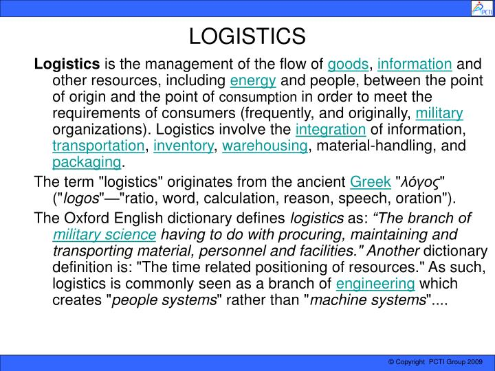MS55 LOGISTICS AND SUPPLY CHAIN MANAGEMENT in 2020