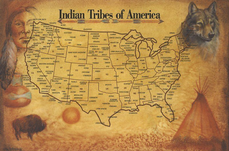 Indian Tribes In Us Map.List And Maps Of Native American Tribes Indians Pinterest