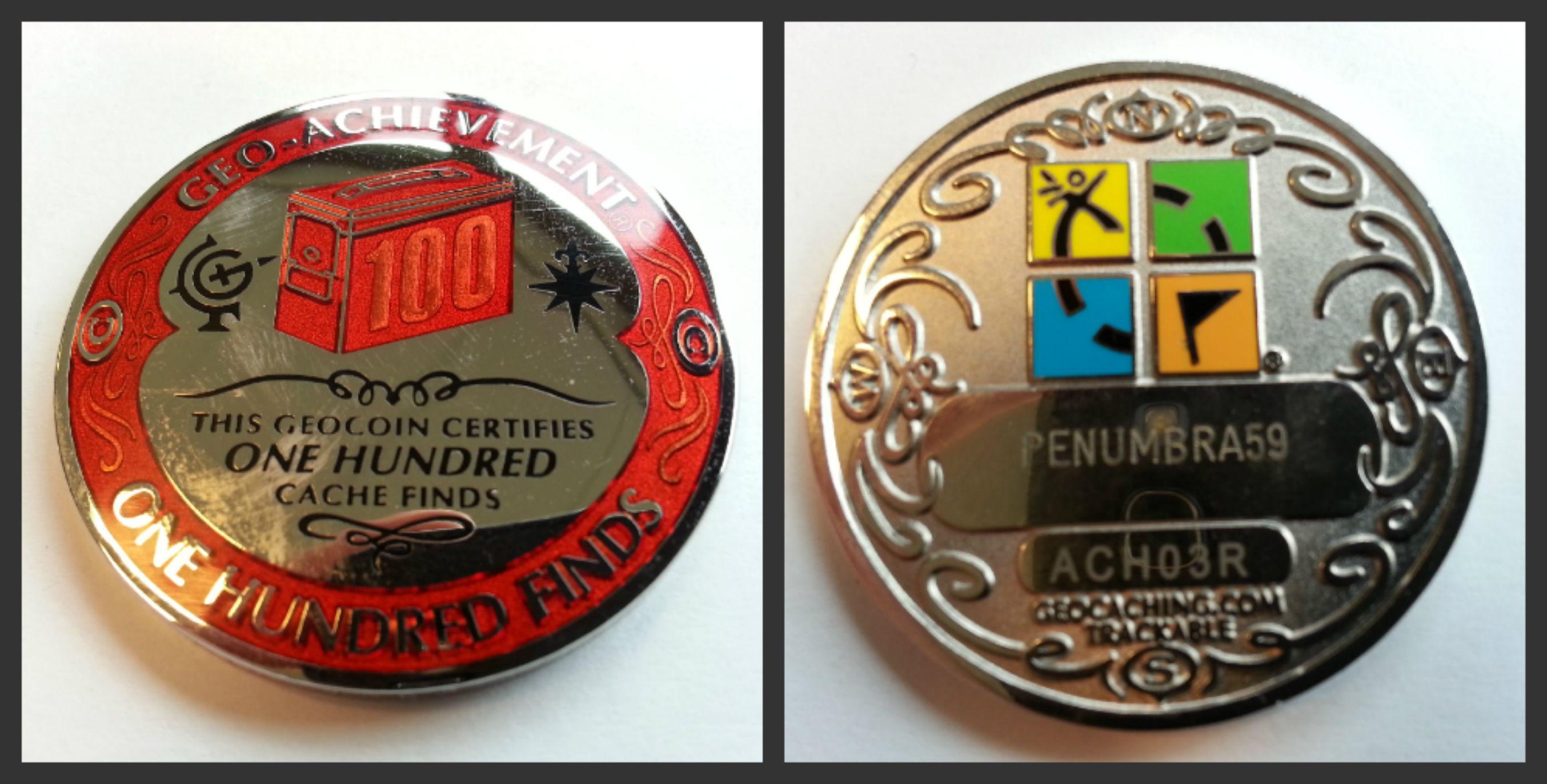 geocaching achievement coins