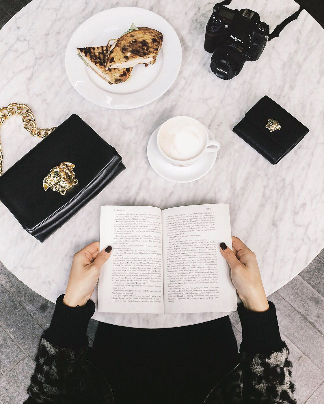 The Versace Palazzo collection is the perfect coffee break accessory. Photo credit Lilyanne Nguyen.