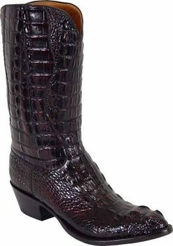 Mens Lucchese Classics Black Cherry Hornback American
