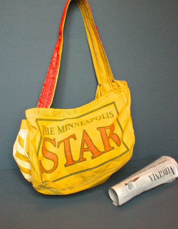 Vintage Newspaper Bag The Minneapolis Star