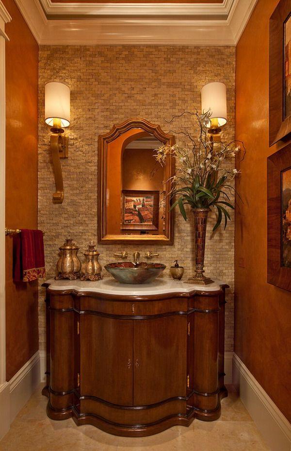 Bathrooms Wrapped In Warm Colors Remodeling Contractor Color Bathroom Design Bathroom Furniture Design Guest Bathroom Decor
