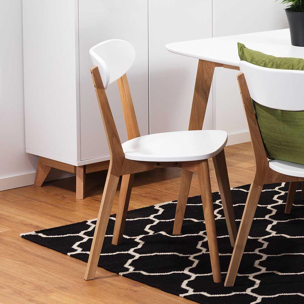 Stuhl Set In Weiss Eiche Modern 2er Set Jetzt Bestellen Unter Https Moebel Ladendirekt De Kueche Und Esszimmer Stuehl Esszimmerstuhl Esszimmerstuhle Stuhle
