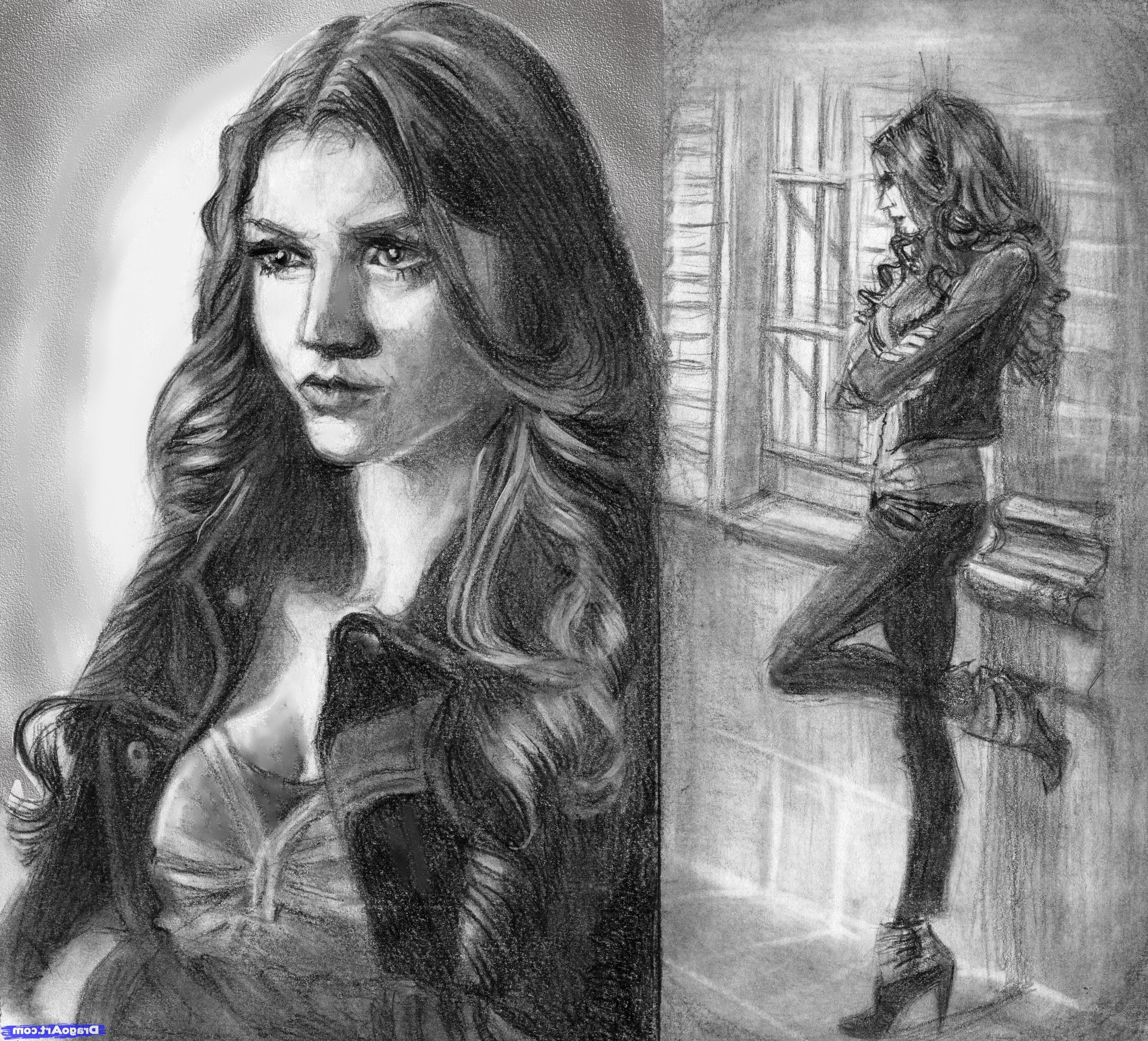 Vampire diaries easy pencil sketch how to draw a woman katherine pierce the vampire diaries step