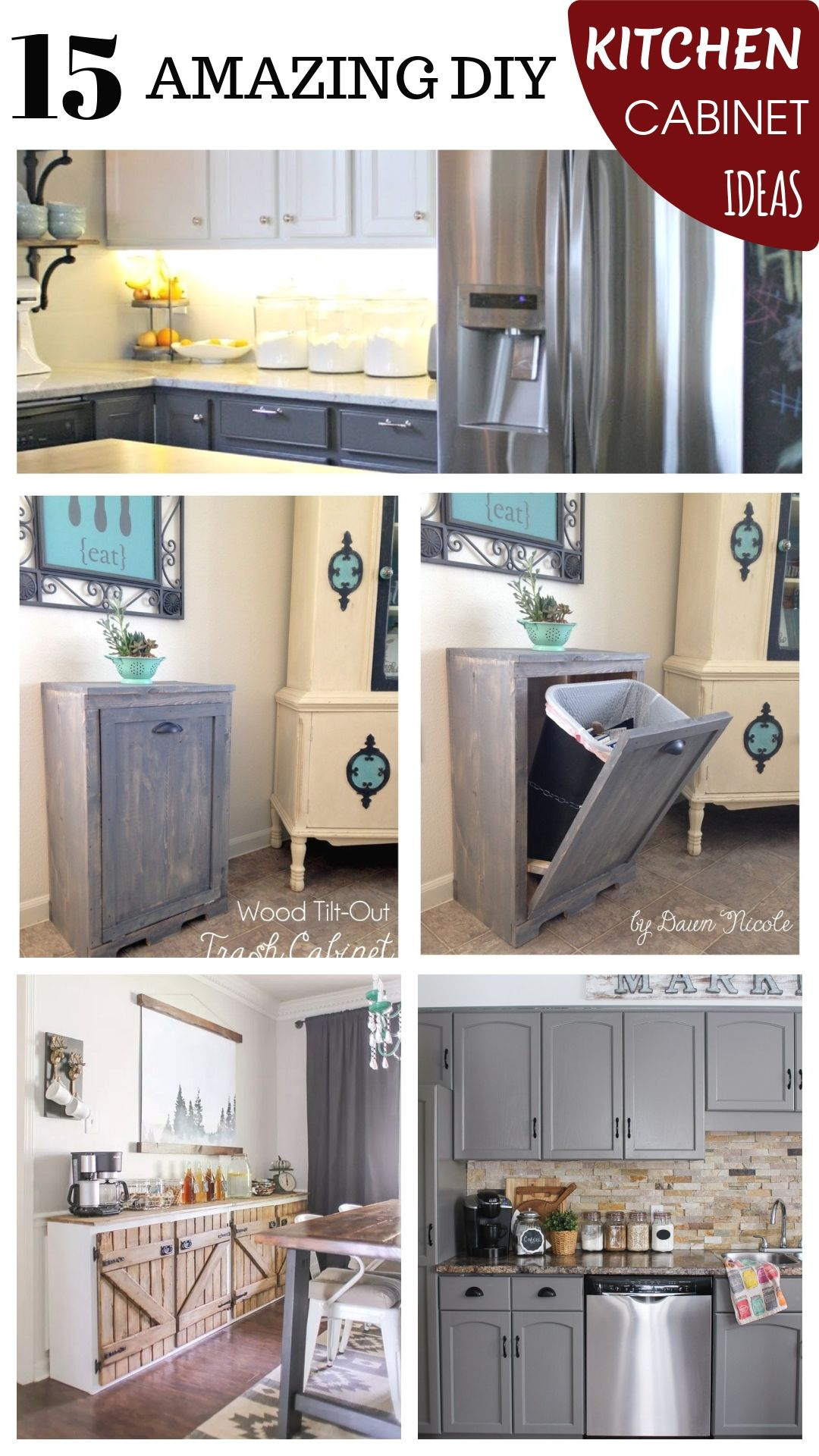 DIY Kitchen Cabinet Design   Diy kitchen cabinets, Diy kitchen ...
