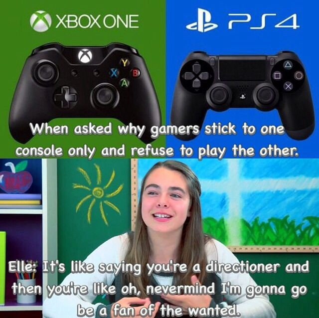 Elle On Kids React To Xboxone Vs Playstation 4 Memes Gaming Memes Funny Video Game Memes