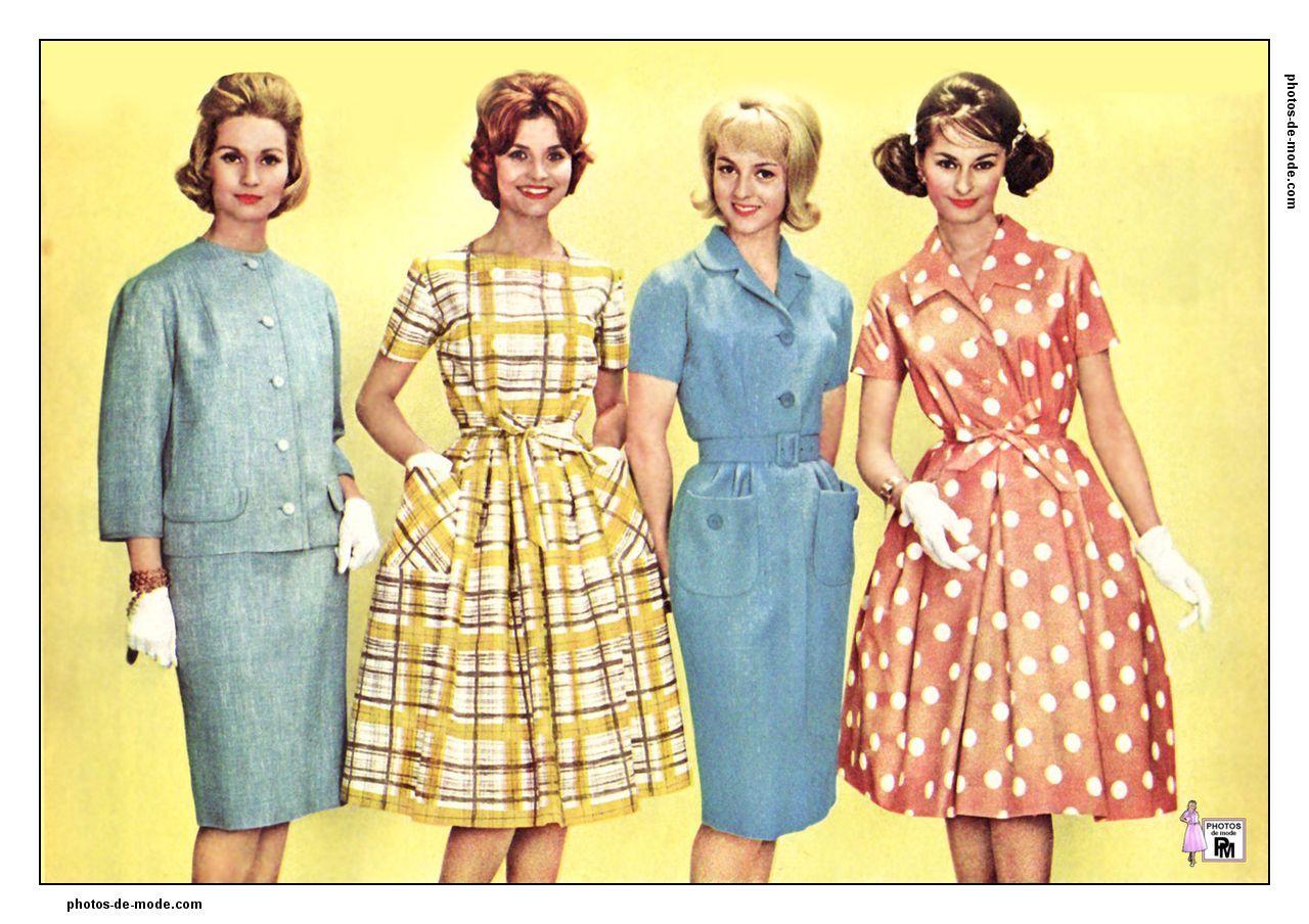 robes rétro 1960 | Vintage Fashion: 1960-1964 | Pinterest