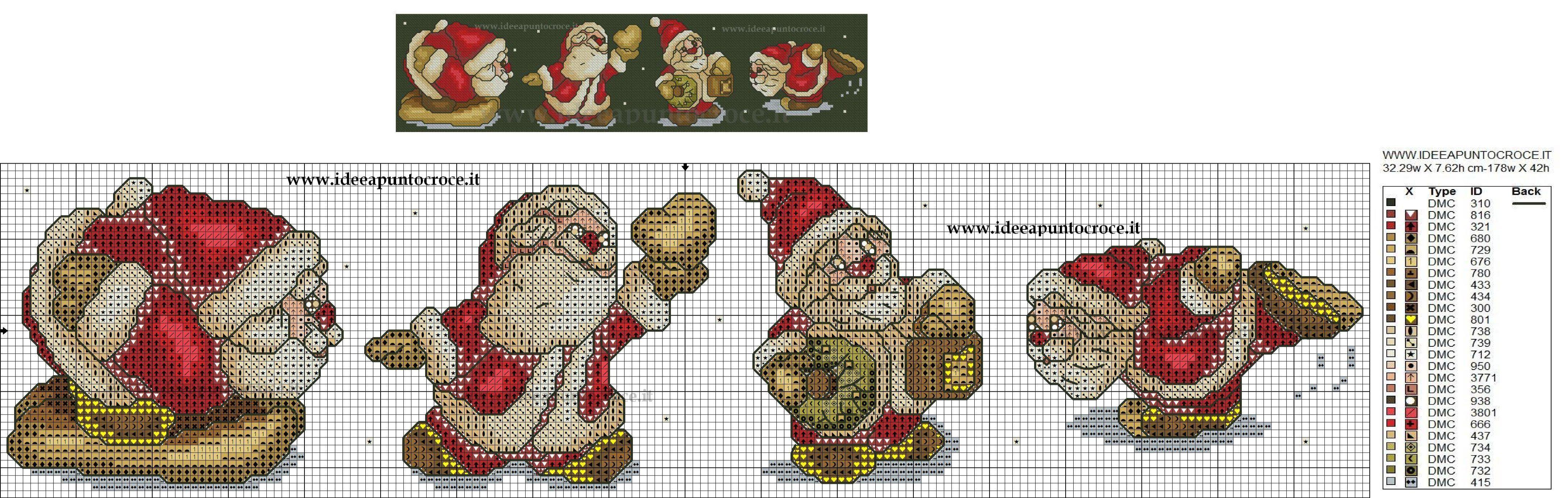Babbo Natale Punto Croce Schemi Gratis.Schemi Punto Croce Babbo Natale Gg05 Regardsdefemmes
