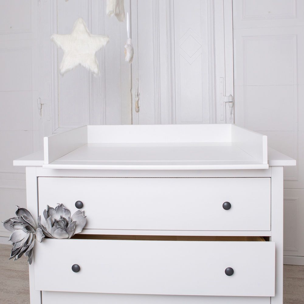 Round Edges Changing Table Top For Ikea Hemnes Drawer Without
