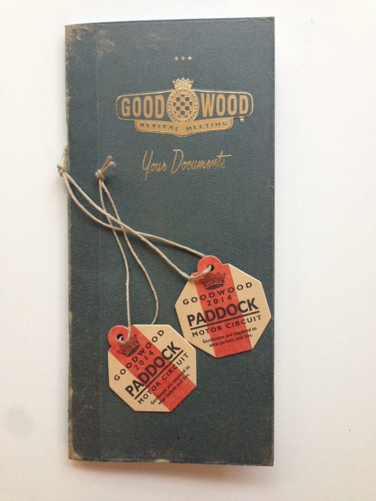 Goodwood Revival Paddock Passes Badges 2014 X2 | eBay