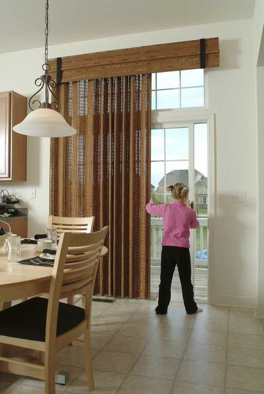 High Hang Woven For Transom Sliding Patio Doors Window Treatment