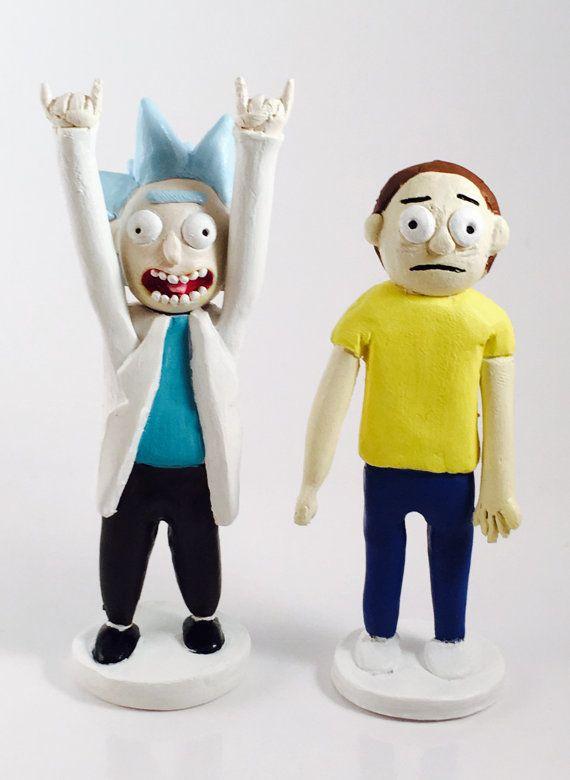 Tiny Rick ! Rick and Morty figurine , Rick and Morty cake ...