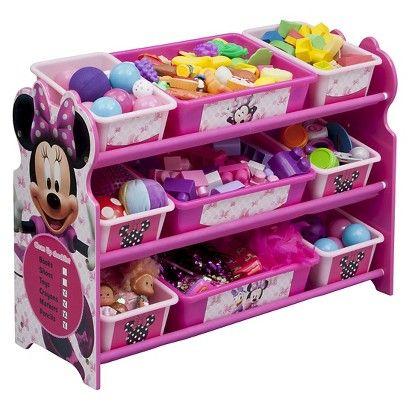 Delta Children 9 Bin Plastic Toy Organizer Disney Minnie