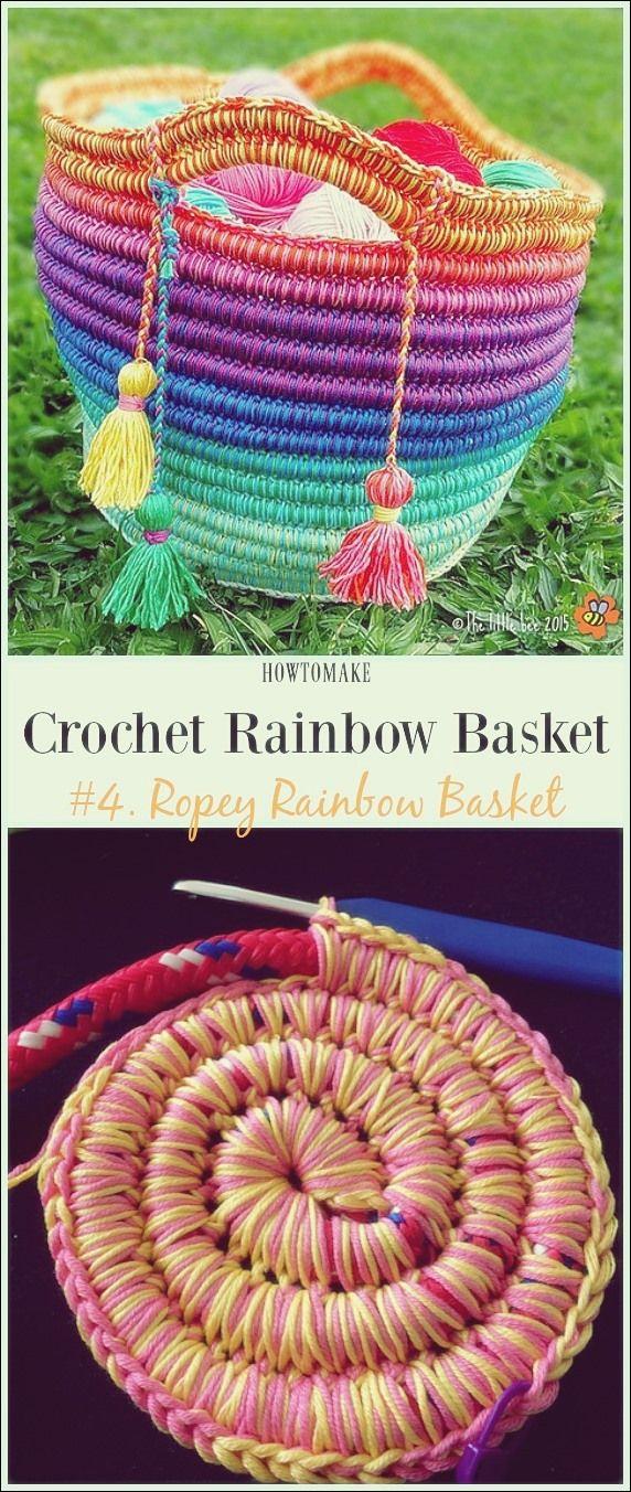 Photo of Häkeln Sie Rainbow Basket Free Patterns | Free Patterns
