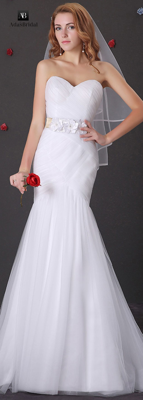simple but unique mermaid wedding dress ideas