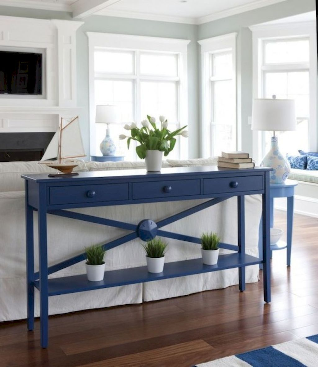 Cool Living Room Interior Design: 70 Cool And Clean Coastal Living Room Decorating Ideas (3
