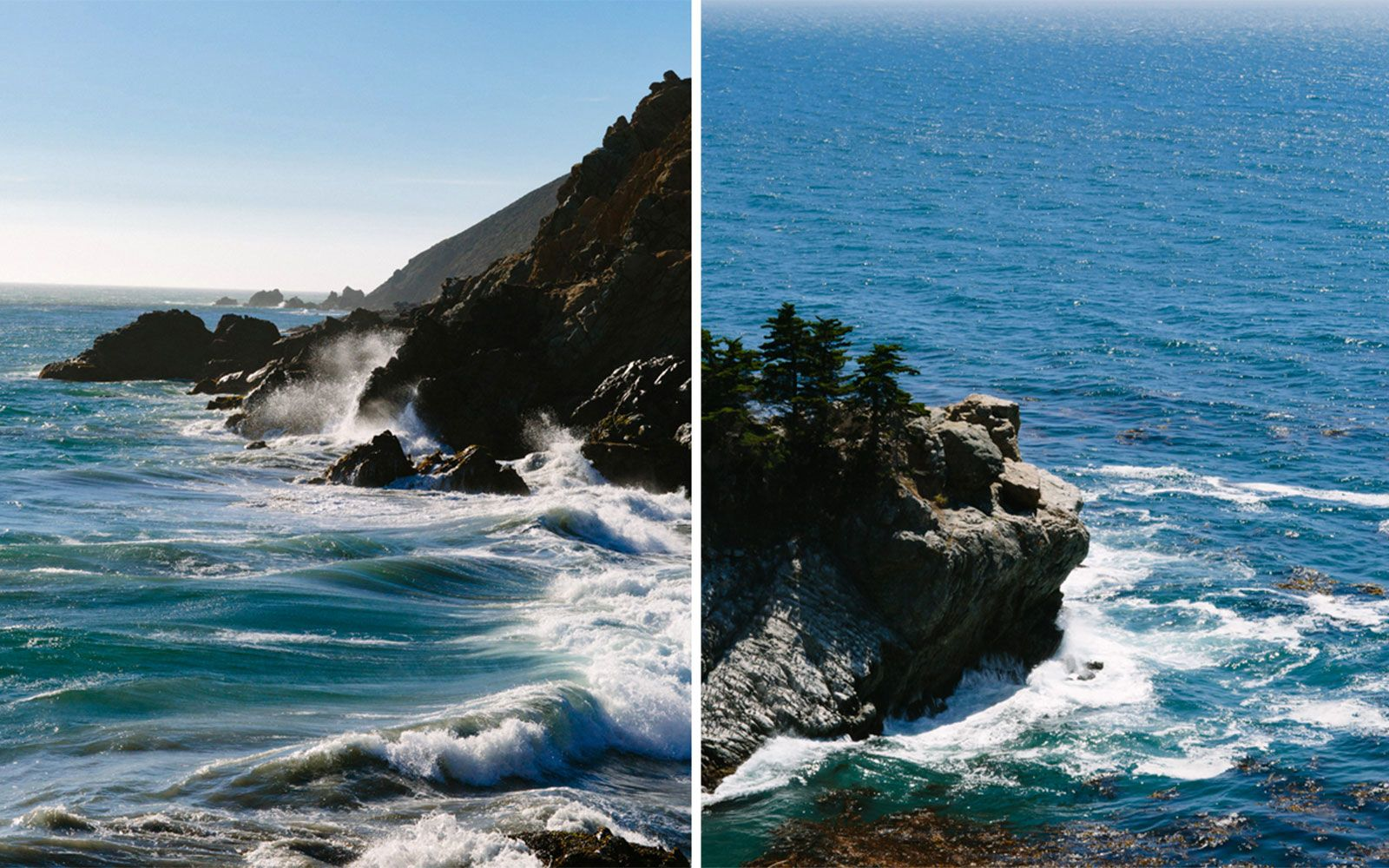 As you drive along Highway 1, split off onto Sycamore Canyon Road, seduced by the sights and smell of Pfeiffer Beach. The water flows between large rock formations barely removed from a beach worth strolling.