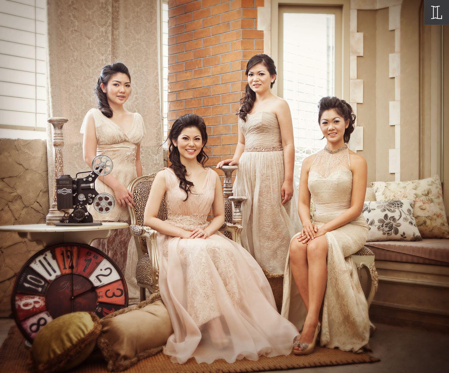 Family Portrait Indoor Studio Golden Gown Inspiration