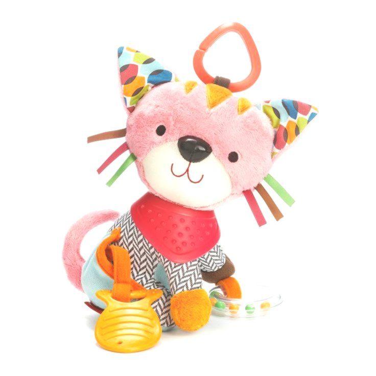 Skip Hop Bandana Buddies Activity Teether Rattle, Pink -
