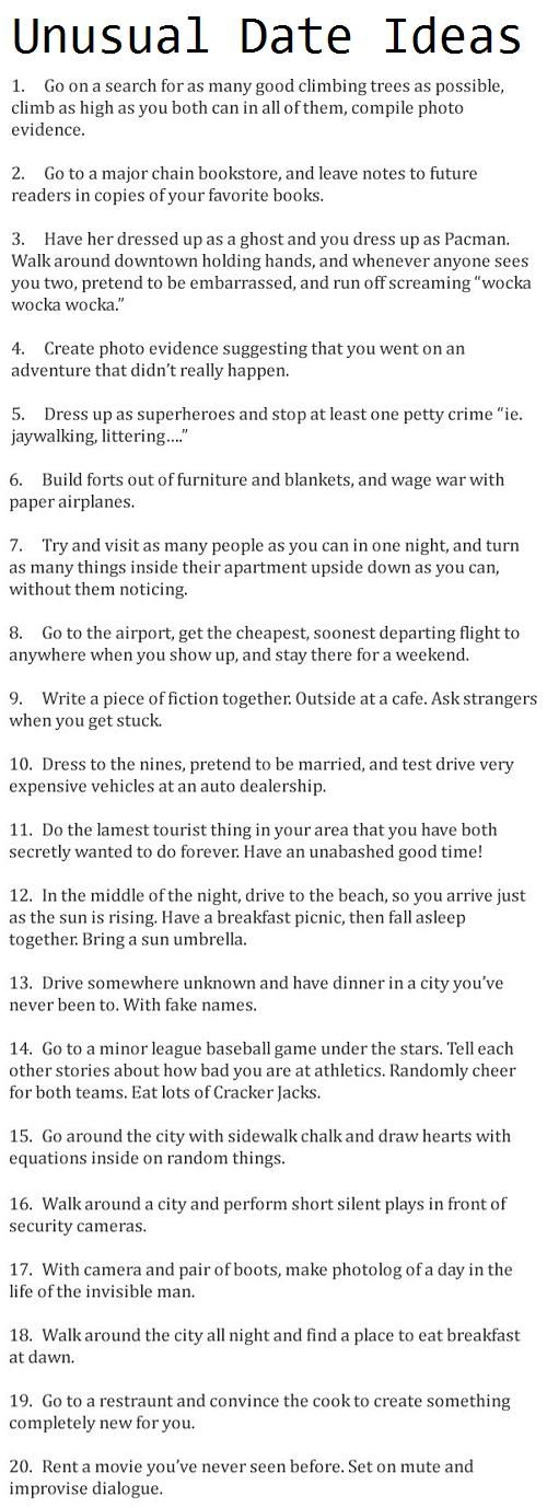 Cute things to do when you start dating