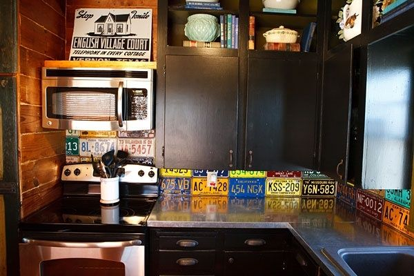 License Plate Backsplash Home Kitchens Kitchen Decor
