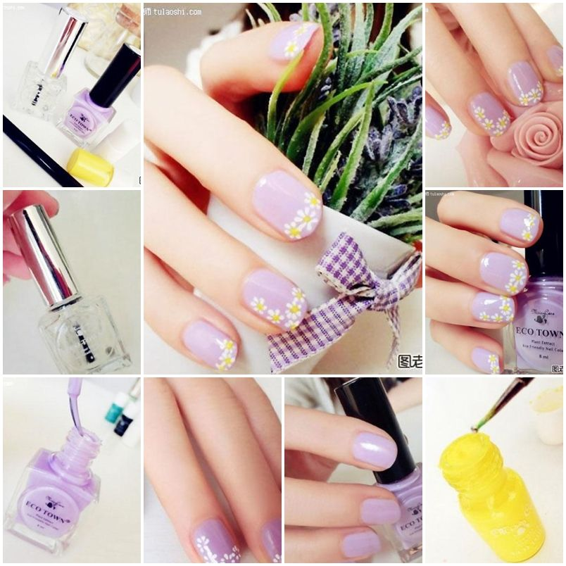 How To Make Lovely Daisy Nail Art Step By Diy Instructions