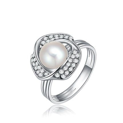 18K Real Platinum Plated Fashion Environmental Alloy Rhinestone Finger Rings…