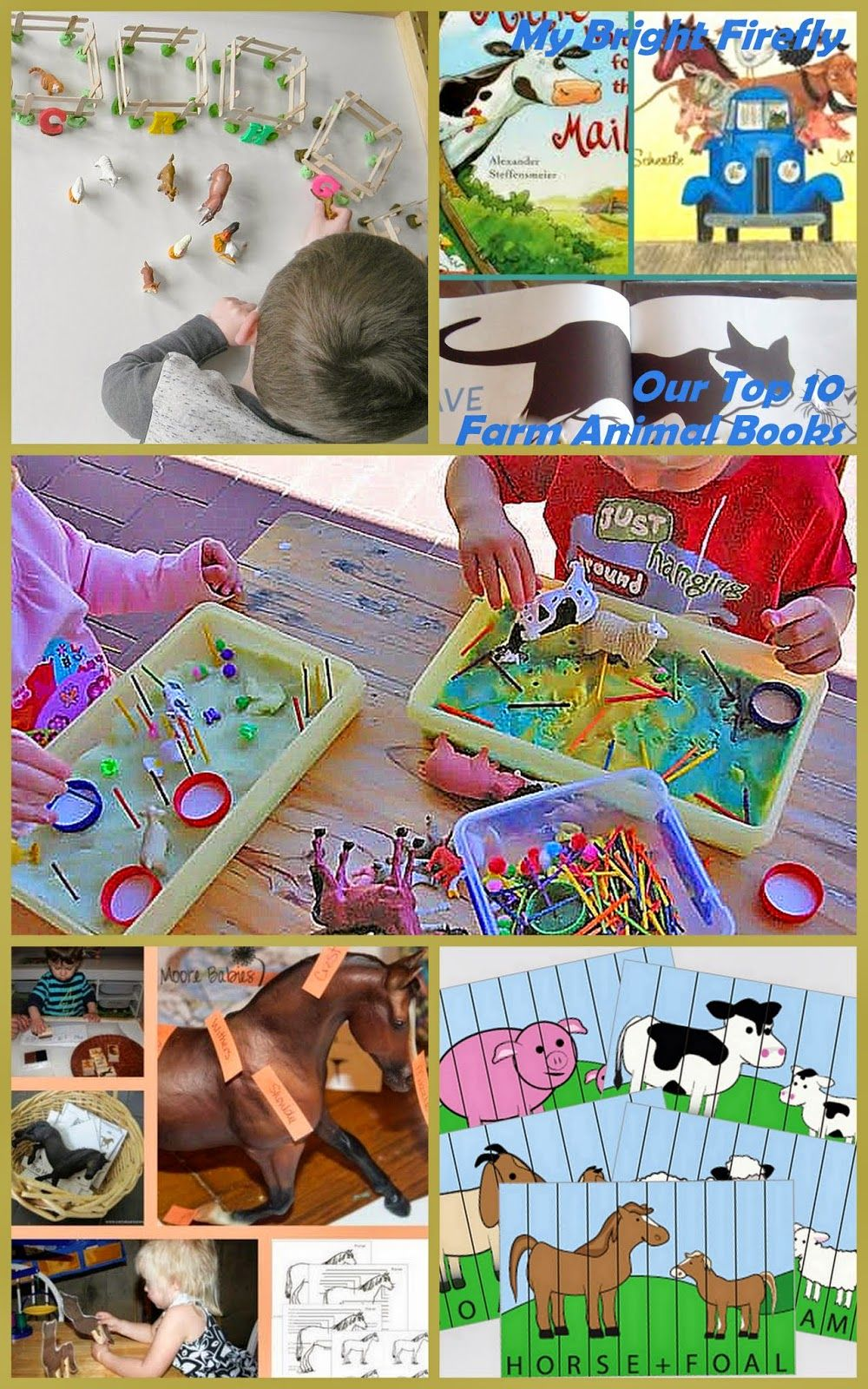 Farm Animals Preschool Theme Books, Games, and Montessori
