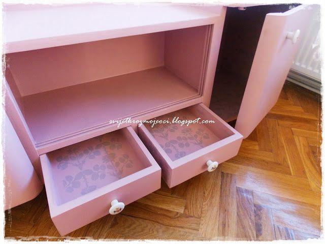 Dresser Makeover Shabby Chic Pink Vintage Rose