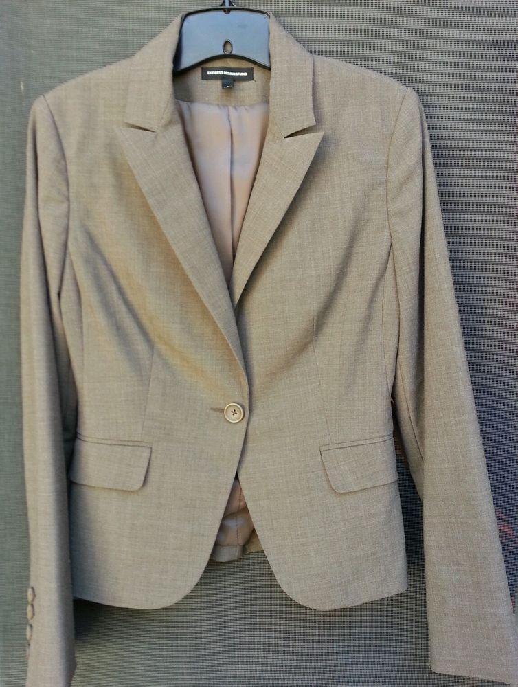 Express Design Studio Size 4 Brown Business Blazer #Express #Blazer