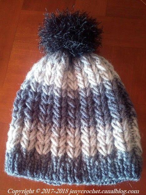 1bd653a5d55 Bonnet point cœur ( au tricot ) - Jeny crochet