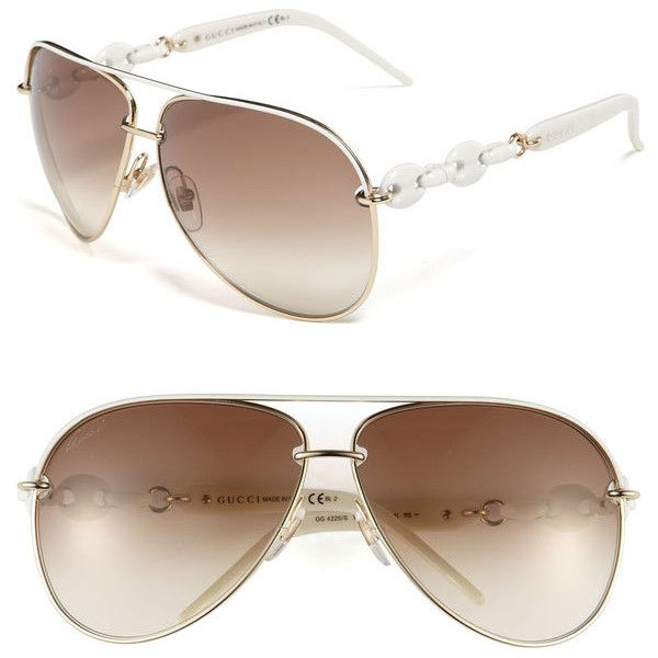 3c8ca8e7eee5 Gucci 'Marina Chain' Aviator Sunglasses ❤ love. have. | Passion for ...