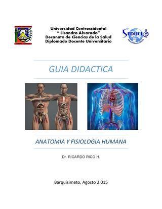Guia didactica de anatomia y fisiologia humana en 2018 | Ciencias ...