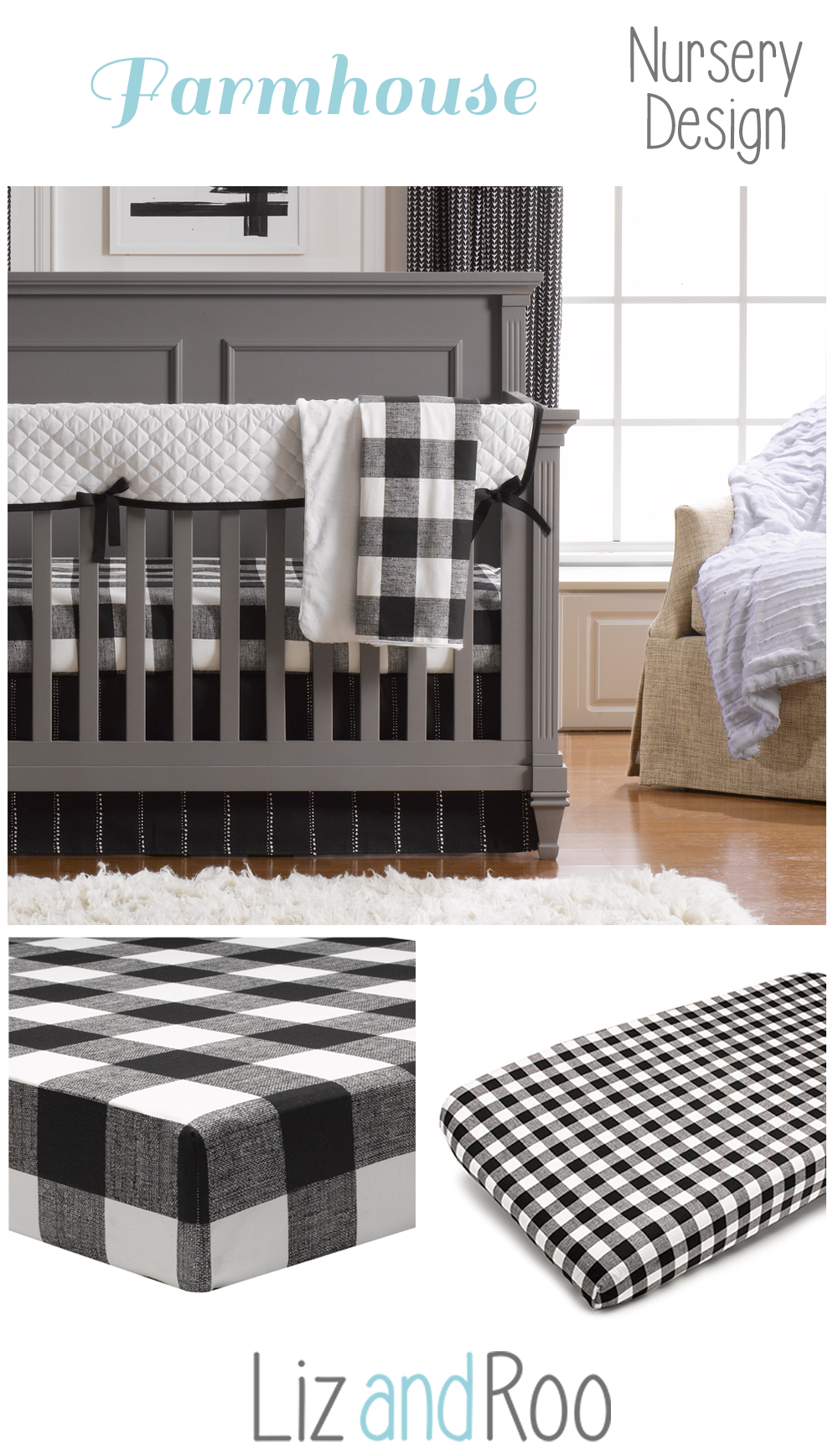 Black And White Modern Crib Bedding Modern Crib Bedding Farmhouse Baby Bedding White Baby Bedding
