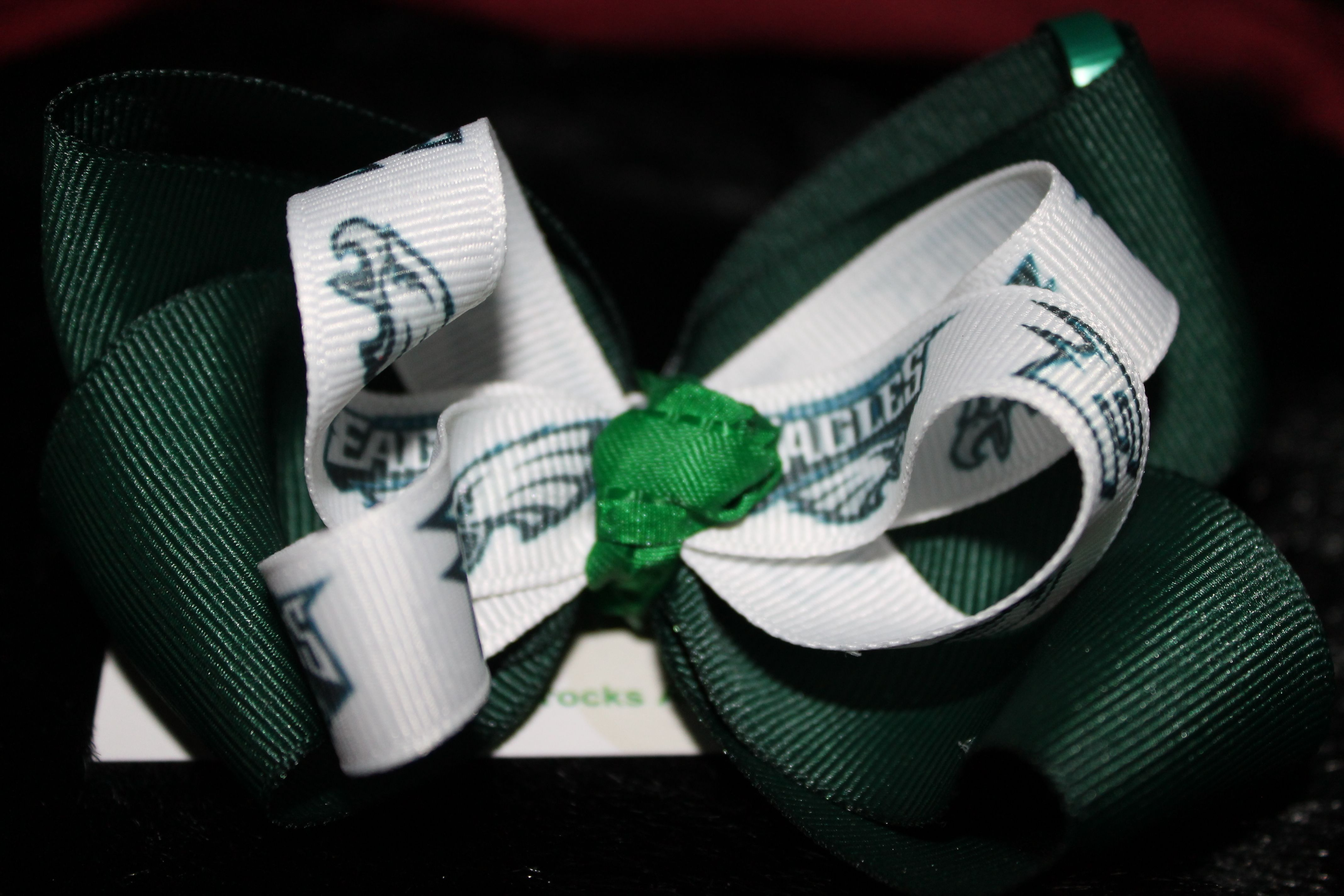84044f6d8 Fly Eagles Fly bow-$8 | Three Shamrocks Accessories(things I make)