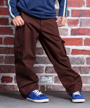Any boy can cruise in style with these rockin' pants. Plus, the cargo pockets boast flaps for keeping gear secure when blazing around a racetrack.