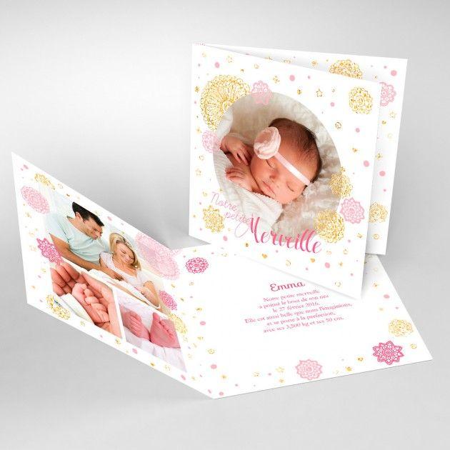 Faire-part naissance – Paillette