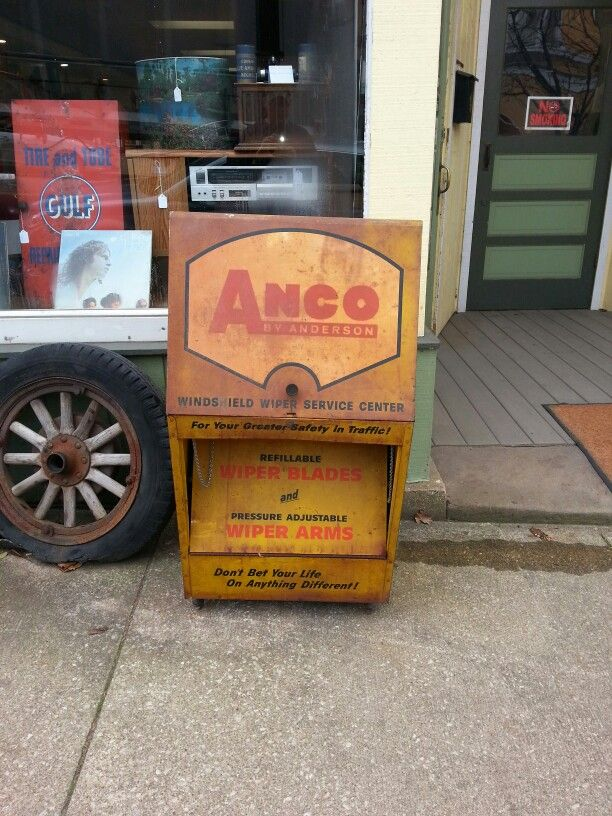 Vintage Anco Wiper Blade Cabinet Tbt Ancoroadtripcontest Wiper Blades Blade Windshield Wipers