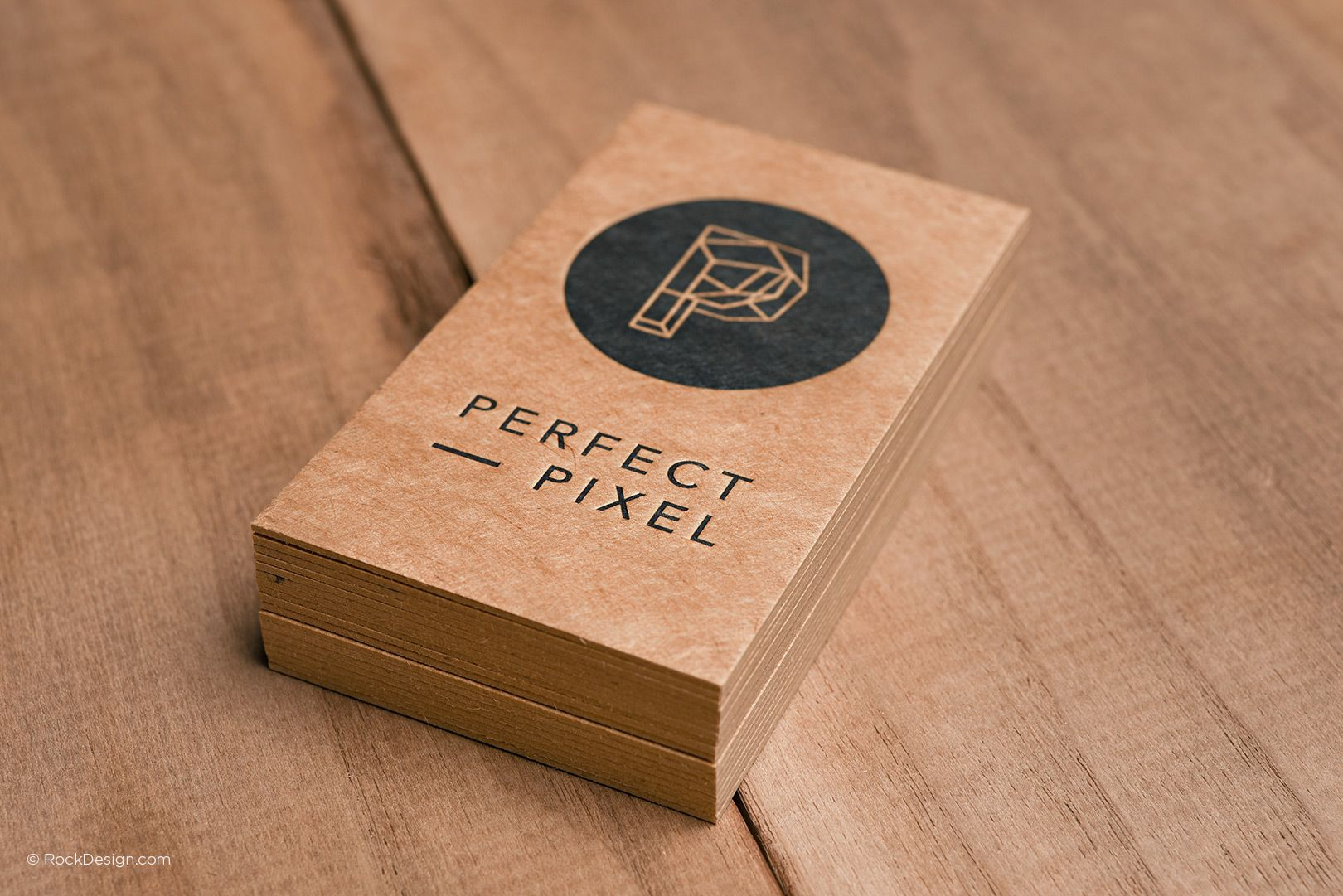 Modern stylish letterpress kraft business card perfect pixel modern stylish letterpress kraft business card perfect pixel rockdesign luxury business card printing reheart Images