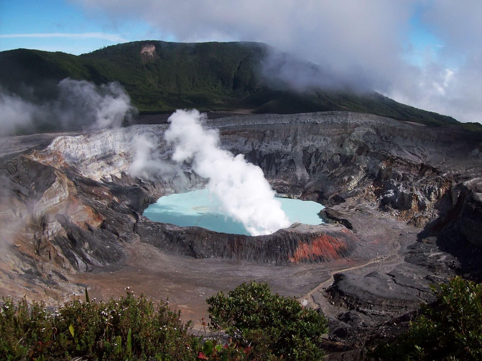 poas volcano, costa rica. david greenman and i hiked all the way