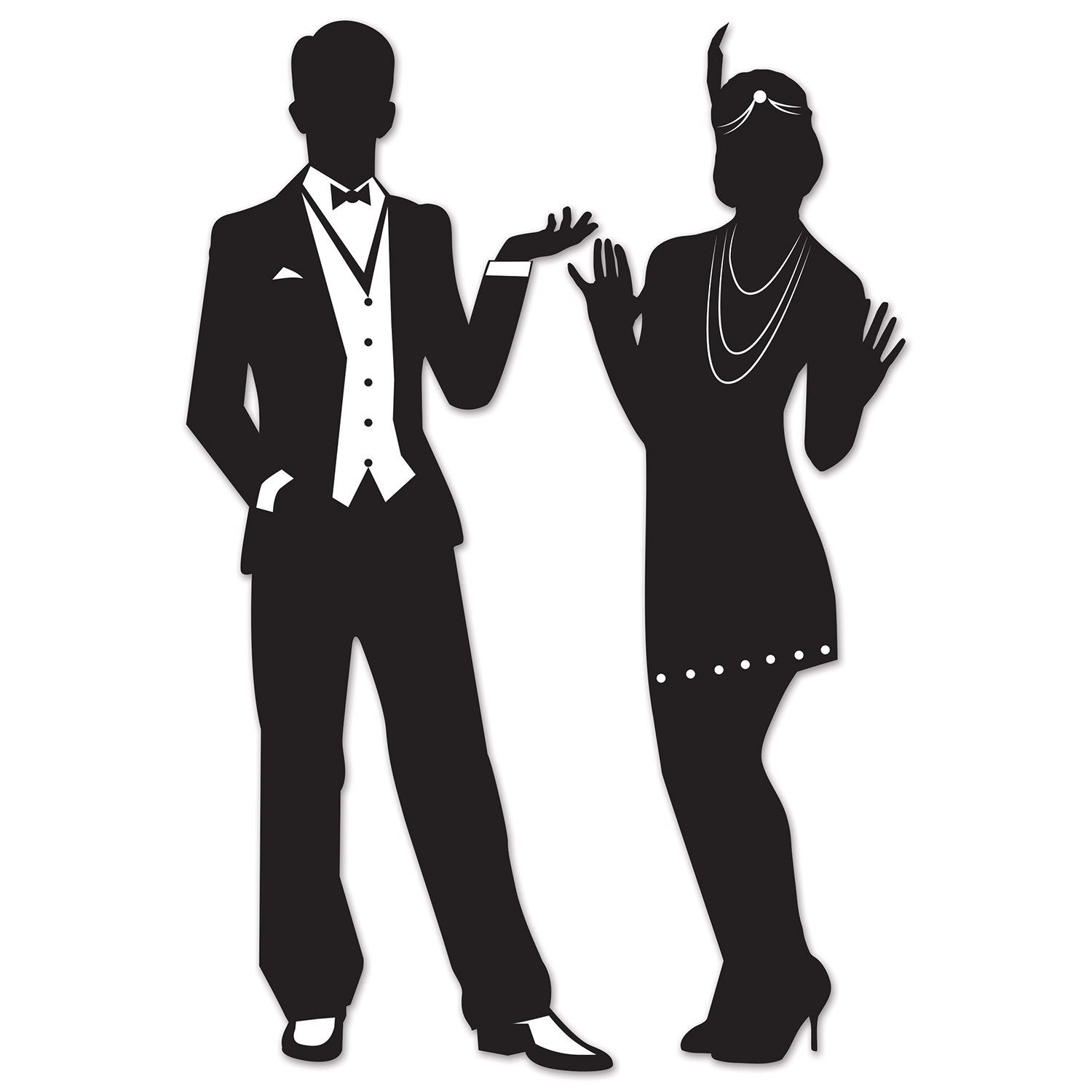 Great 20 S Silhouettes Pack Of 24