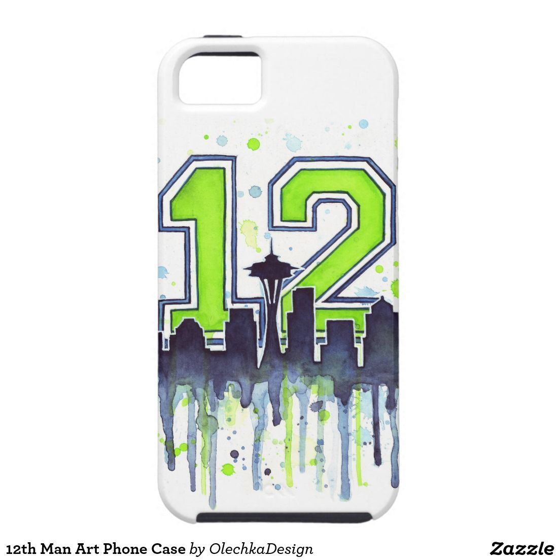 Seattle Seahawks 12th Man Art Phone Case iPhone 5 Cover | Seattle ...