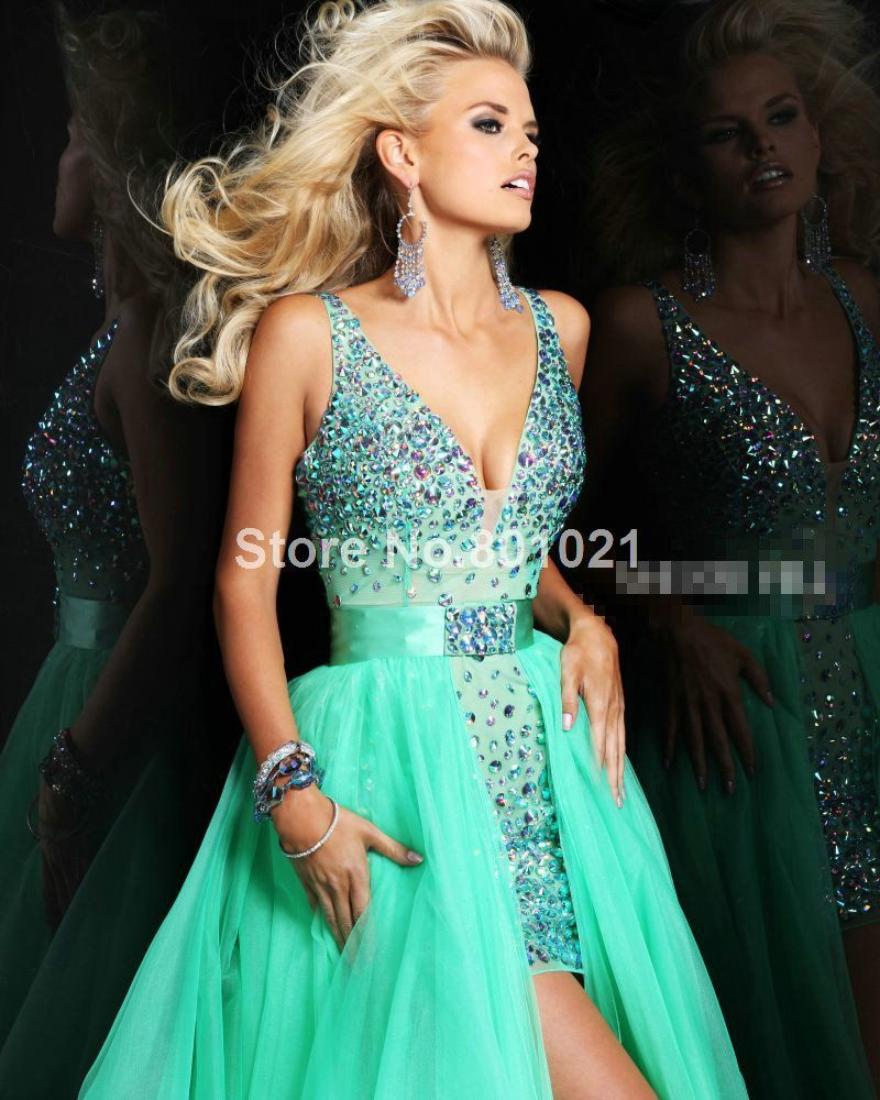 Top Sale 2014 Sparkle Crystal V-neck Bodice Corset Teal Hot Pink ...